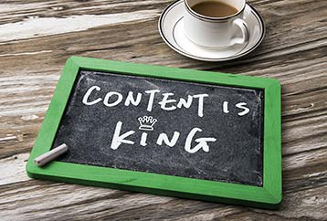 Content is king - Local SEO for small business